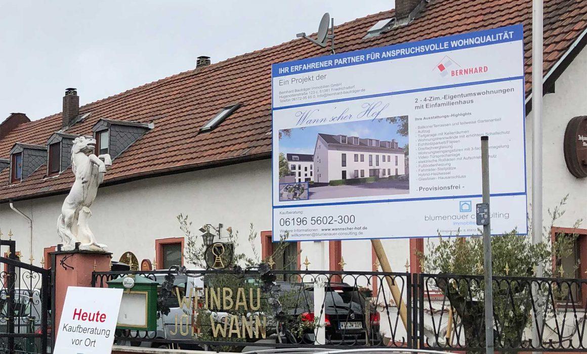 Verkaufsstart Wannscher Hof Neubau Mainz Kostheim